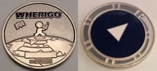 Whereigo Geocoin - Unactivated, trackable, icon, sold out, hard to find!