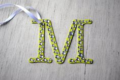 Personalized Bling Initial Letter Gift Tags by LettersFromAtoZ, $5.00