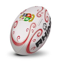 British and Irish Lions 125 year Anniversay Rugby Ball - White/Red/Gold British And Irish Lions, Rugby Sport, Crests, Football Shirts, Red Gold, Hockey, Balls, Game, Sports