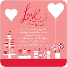Valentine's Day Party Invitation | Holidays and themes ...