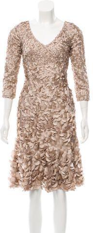 Theia Long Sleeve Midi Dress w/ Tags