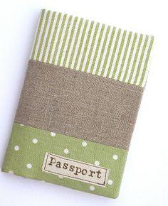 passport holder green by countrykitty