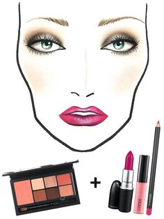 Mac Fall Fuchsia Lips Face Chart