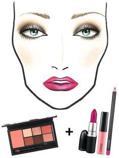Keep the focus on a full-on fuchsia lip