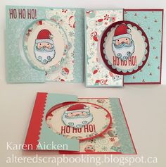 Altered Scrapbooking: HoHoHo Holiday Flip-It Trio