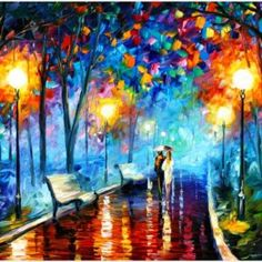 Couples In Love Rainy Night Painting Wallpaper | couples in love rainy night painting wallpaper 1080p, couples in love rainy night painting wallpaper desktop, couples in love rainy night painting wallpaper hd, couples in love rainy night painting wallpaper iphone