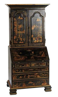 Maitrise Model French Secretaire in the 18th Century Style with Chinoiserie Decorations 800/1100 Auctions Online | Proxibid