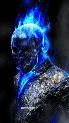 Diamond Painting Blue Skull Man Paint with Diamonds Art Crystal Craft Decor Ghost Rider Wallpaper, Skull Wallpaper, Marvel Wallpaper, Dark Fantasy Art, Dark Art, Spirit Of Vengeance, The Crow, Ghost Rider Marvel, Ghost Rider