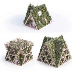 The Farmhouse by Studio Precht - Parametric Architecture Parametric Architecture, Parametric Design, Green Architecture, Concept Architecture, Futuristic Architecture, Sustainable Architecture, Landscape Architecture, Architecture Design, Triangular Architecture