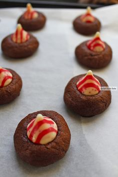 44 Tried and True Cookie Recipes - Chocolate and Peppermint Blossoms #recipe #cookies