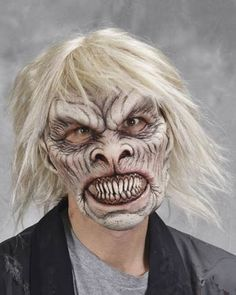 Zagone Studios Ghoul Zombie Latex Mask   New Ghoul Latex mask with attached Hair.   Latex mask covers your whole head for a complete transformation.   Created by the mask masters at Zagone Studios, this Mask is cast in extremely soft and stretchy latex for a mask that is very comfortable to wear!