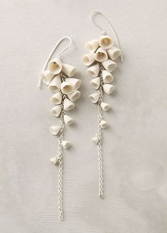 Lily of the Valley earrings- So ethreal and pretty...with the right hair do could be PERFECT for wedding
