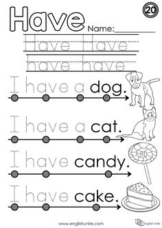 These preschool reading worksheets will get your little one ready for kindergarten. Help your kid get a leg up on reading with our preschool reading printables. Give your child a boost using our free, printable Preschool reading worksheets. Pre Primer Sight Words, Basic Sight Words, Teaching Sight Words, Preschool Sight Words, English Worksheets For Kindergarten, Kindergarten Learning, Sight Word Worksheets, Phonics Worksheets, Phonics Reading