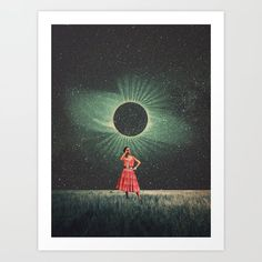 Total Eclipse Of You Greeting Card by Frank Moth - Set of 3 Folded Cards x