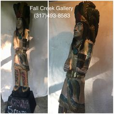Latest #chief heading up to the #gallery tomorrow Call if interested (317)493-8583 #fallcreekgallery #cigarstoreindian #cigaraficionado #cigarstoreindianstatue #cigar #cigarbar #cigarboss #mancave #carvedNotImported #loveindy #indyartists #sculptors #imakesawdust #julienchie
