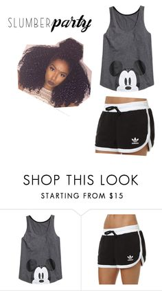 """Untitled #38"" by sassi-mueller ❤ liked on Polyvore featuring adidas Originals and slumberparty"