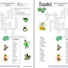 Spanish St. Patrick's Day Crossword and Image IDs - 16 English clues that students must translate to Spanish and 9 clip art images to identify.