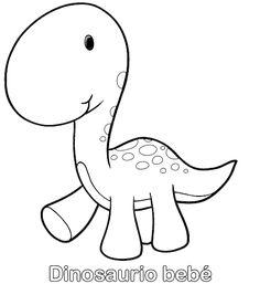 Colorear Dinosaurio bebé