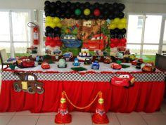 Nossa decoração Carros da Disney