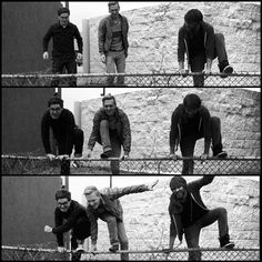 Jumping over fences to escape our hotel in Arkansas