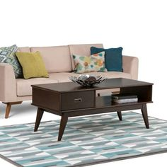 Belham Living Carter Mid Century Modern Coffee Table Coffee Tables - Belham living carter mid century modern coffee table