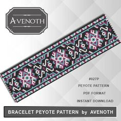 PLEASE NOTE: In purchasing this item, you are buying only a PATTERN in PDF format. This pattern is also intended for users that have experience with peyote, because the pattern does NOT include instructions on how to do this stitch. It will be available for instant download as soon as payment is received. If you don't know how to download digital file after purchasing, this link might help you: https://www.etsy.com/help/article/3949?ref=help_search_result INFOR...