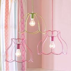 Upcycle-This: DIY Lamp Shades. Remove the shade, leave the frame