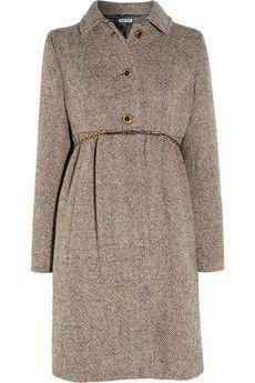 wool blend tweed coat ++ miu miu