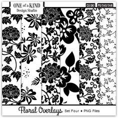 Floral Overlays - Set Four  | CU/Commercial Use #digital #scrapbook #design tools at CUDigitals.com #digitalscrapbooking