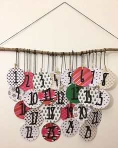 DIY Advent Calendar Wall Hanging