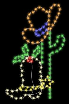 Christmas and Holiday Decorations: Cowboy Boot displays made in the USA