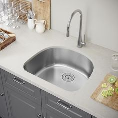 """Exclusive Heritage 23"""" X 18"""" Single Bowl Undermount Stainless Classy Stainless Kitchen Sinks Inspiration"""