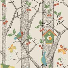 Boråstapeter Fåglar Tapet