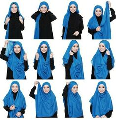 Hijab tutorial by Kak Mirah :) Have a try ; Square Hijab Tutorial, Hijab Style Tutorial, How To Wear Hijab, Hijab Trends, Abaya Fashion, Mode Hijab, Summer Outfits, Tutorials, Model