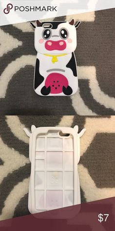 Cow iPhone 6/6s phone case Cow iPhone 6/6s phone case! Great quality, never used! Fun to have and use, also super cute! Accessories Phone Cases