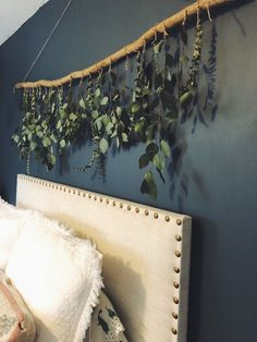diy wall decor Dried eucalyptus and natural wood wall hanging. Absolutely stunning and smells incredible! Comes in multiple sizes. Shipped with all recycled materials.