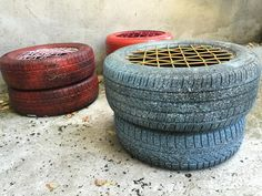 furniture made from recycled tires