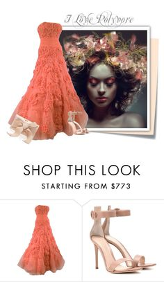 """...."" by elenb ❤ liked on Polyvore featuring Post-It, Gianvito Rossi and Oscar de la Renta"