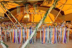 Wedding Chair Decorations, Wedding Chairs, Wedding Tables, Wedding Bunting, Diy Wedding, Wedding Ideas, Tipi Wedding Inspiration, Festival Themed Wedding, Christmas Lanterns