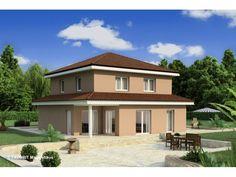 Stadtvilla mediterran klinker  Evolution 143 V13 von Bien-Zenker. Wohnfläche von 143,83 m² ...