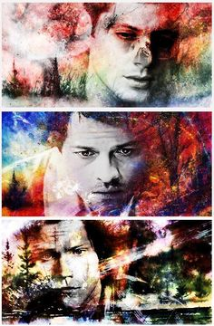 Supernatural Dean and Sam Winchester fanart Supernatural Destiel, Castiel, Supernatural Series, Crowley, Supernatural Cartoon, Sam E Dean Winchester, Winchester Brothers, Sam Dean, Virginia Woolf