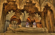 A tomb in Ely Cathedral, uncredited