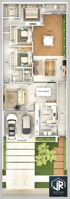 Obras Realizadas » Jrbertolini House Plans Mansion, House Layout Plans, Family House Plans, New House Plans, Dream House Plans, House Layouts, House Floor Plans, House Floor Design, Cottage Chic