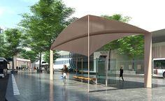 De nieuwste bushokjes van het gloednieuwe Centraal Station Rotterdam!