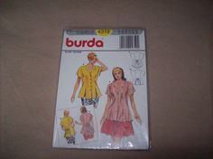 Burda Blouse, burda Sewing Pattern 4319 by vintagecitypast on Etsy