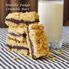 Nutella Fudge Crumble Bars - one of our most successful recipes from last Holiday baking season. Yes, these are as good as they look and sound. You'll find plenty of Holiday baking inspiration on Rock Recipes!