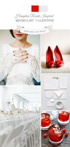 Red and White Modern Valentine Wedding Ideas