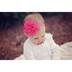 Pink baby headband, hot pink baby headband, infant headband, newborn... (22 BRL) ❤ liked on Polyvore featuring baby and baby pics