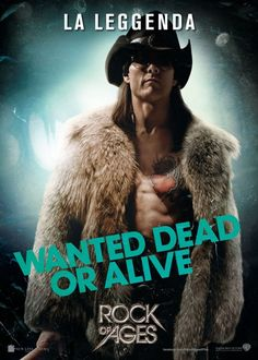 Tom Cruise nei panni di Stacee Jaxx in Rock of Ages!