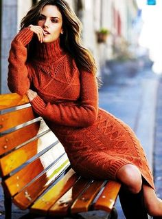Long Sleeve Long Cable Knit Sweater Dress - Turtleneck Long Cable Knit Sweater Dress - LoveItSoMuch.com